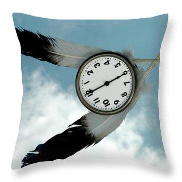 How Time Flies Throw Pillow