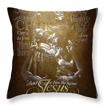 Immanuel Throw Pillow