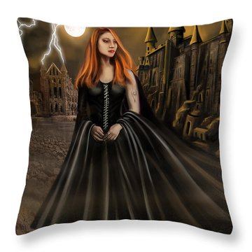 Into The Fire Book Cover  Throw Pillow