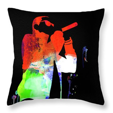 Jay-z Watercolor Throw Pillow