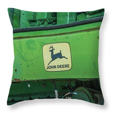John Deere Throw Pillow