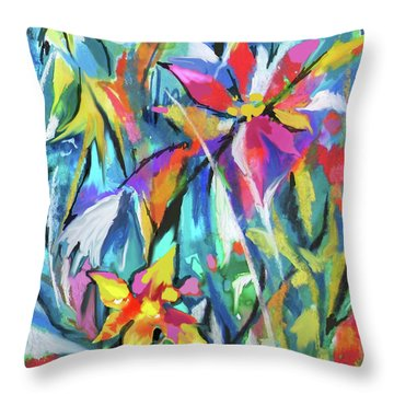 Jungle Garden Throw Pillow