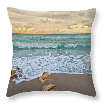 Jupiter Beach Throw Pillow
