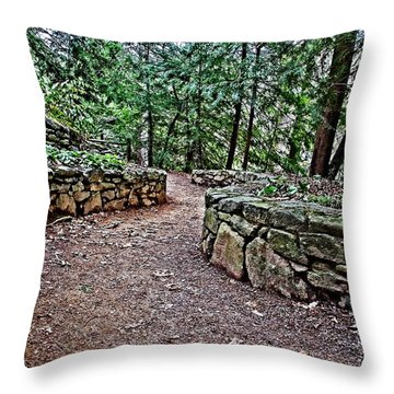 Just Around The Bend Throw Pillow