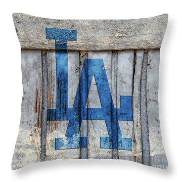 La Dodgers Throw Pillow