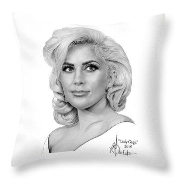 Lady Gaga Throw Pillows