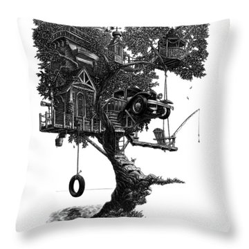 Lake Front Dream House Throw Pillow