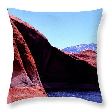 Lake Powell And Navajo Mountain Throw Pillow