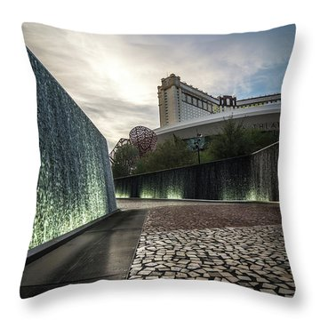 Throw Pillow featuring the photograph Las Vegas Nevada City Scenery On Sunny Day by Alex Grichenko