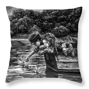 Launching Dreams Throw Pillow