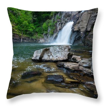 Linville Gorge - Waterfall Throw Pillow