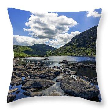 Llyn Eigiau Throw Pillow