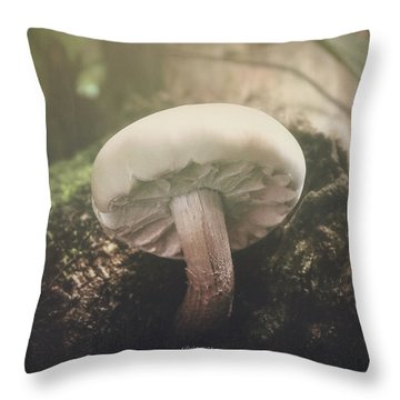Look At The Mushroom Throw Pillow