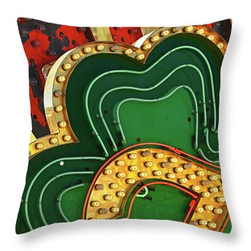 Throw Pillow featuring the photograph Lucky by Skip Hunt