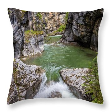 Throw Pillow featuring the photograph Maligne Canyon by Paul Schultz