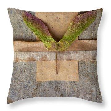 Maple Tree Seed Pod Throw Pillow