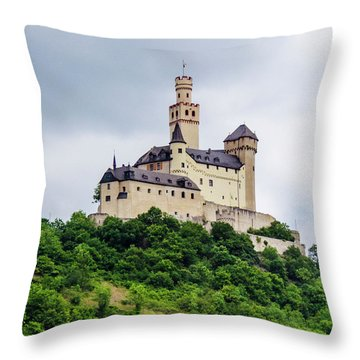 Marksburg Castle - 2 Throw Pillow