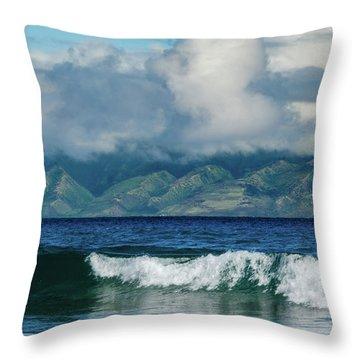 Maui Breakers Throw Pillow