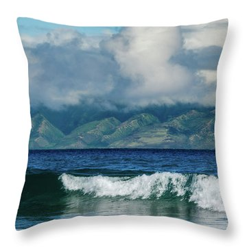Throw Pillow featuring the photograph Maui Breakers by Jeff Phillippi