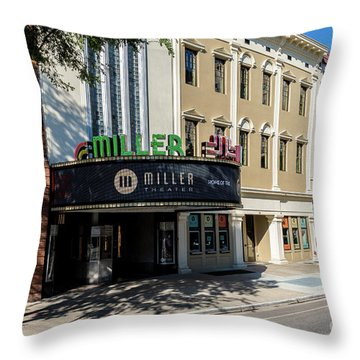 Miller Theater Augusta Ga Throw Pillow