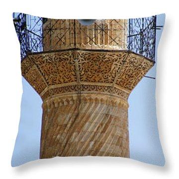 Minaret Of Ulu Cami Mosque Throw Pillow