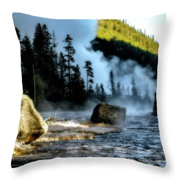Throw Pillow featuring the photograph Misty Morning by Pete Federico