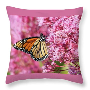 Throw Pillow featuring the photograph Monarch Butterfly by Debbie Stahre