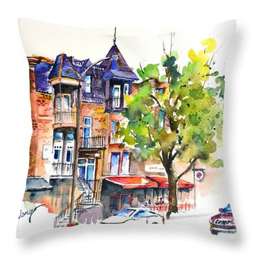 Montreal #2 Throw Pillow