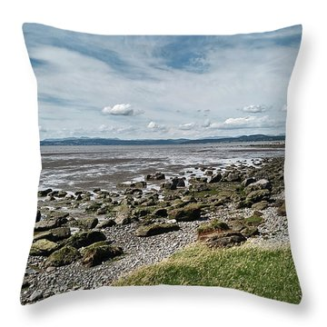 Morecambe. Hest Bank. The Shoreline. Throw Pillow
