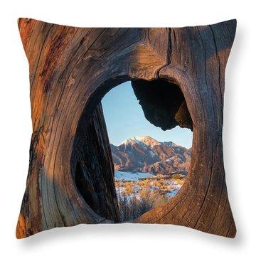 Mount Herard Framed, Great Sand Dunes Throw Pillow