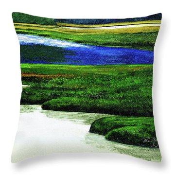 Mt Desert Island Throw Pillow