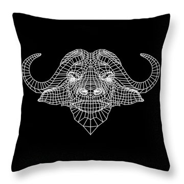 Night Buffalo Throw Pillow