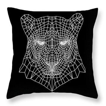Night Panther  Throw Pillow