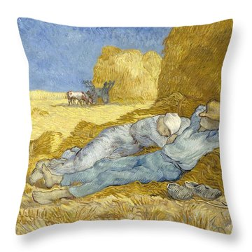 Noon - Rest From Work Throw Pillow