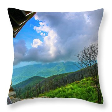 Throw Pillow featuring the photograph Observation Tower View by Tom Claud