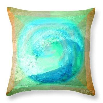 Ocean Earth Throw Pillow