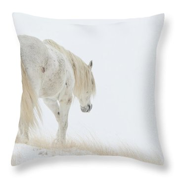 Old Man Winter Throw Pillow