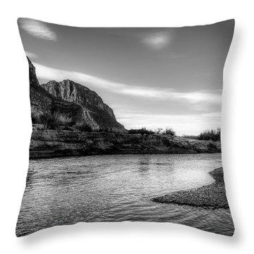 On The Rio Grande River Throw Pillow