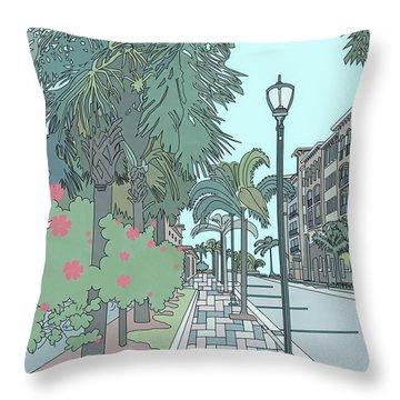 Orange Avenue Throw Pillow
