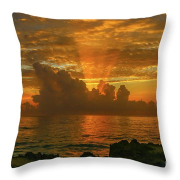 Throw Pillow featuring the photograph Orange Sun Rays by Tom Claud