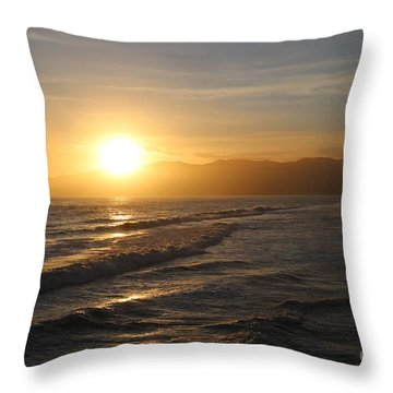 Pacific Sunset , Santa Monica, California Throw Pillow