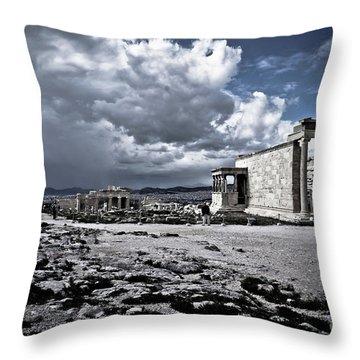 Panorama Of Athens, Greece Throw Pillow