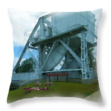 Pegasus Bridge Throw Pillow