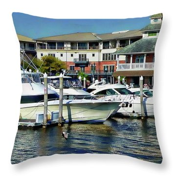 Throw Pillow featuring the photograph Pensacola Pier by Anthony Dezenzio
