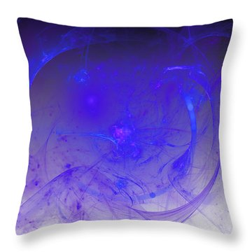 People Of The City Beyond Throw Pillow