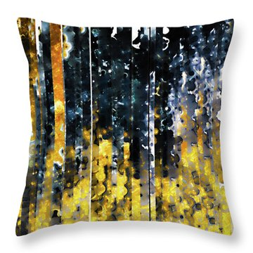 Throw Pillow featuring the painting 1 Peter 1 7. Tested By Fire by Mark Lawrence
