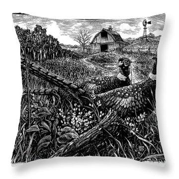 Pheasants Throw Pillow