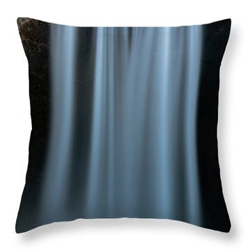 Amongst Giants Skogafoss Iceland Throw Pillow