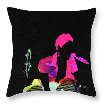 Pink Watercolor Throw Pillow
