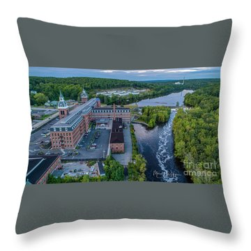 Throw Pillow featuring the photograph Ponemah Mill by Michael Hughes
